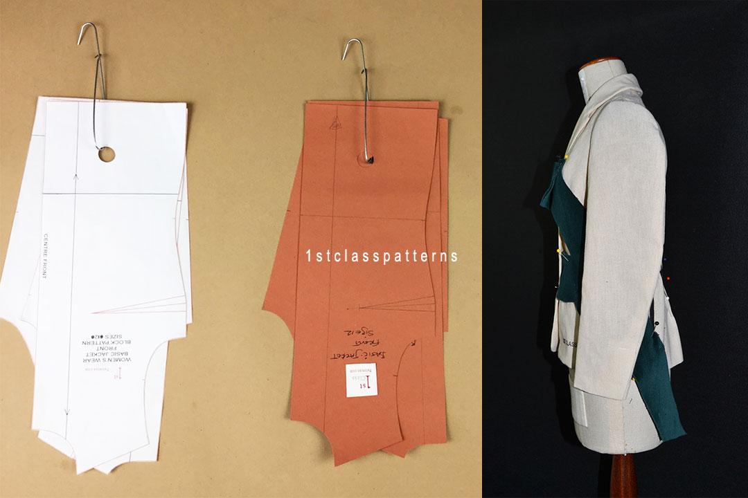 Alexander McQueen Patchwork Challenge using a digital jacket block pattern