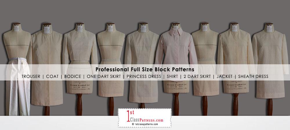 Professional clothing block patterns