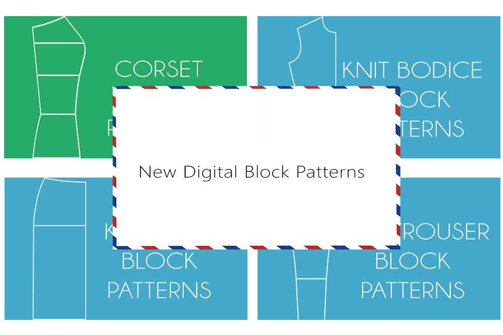 New digital block patterns - A0, A4,US letter size